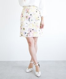 PROPORTION BODY DRESSING/ビッグフラワージャガードプリントタイトスカート/500719661