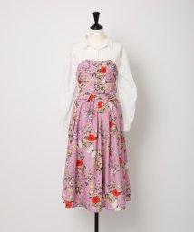 Noela/【CanCam5月号掲載】【セットアップ対応商品】オリジナルファーブル柄ビスチェSETシャツ/500720143