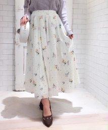 Noela/【CanCam5月号掲載】ドットフラワー刺繍スカート/500720149