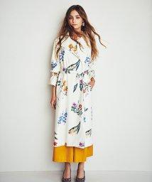 Noela/花柄ロングトレンチコート/500720160