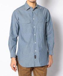 BLUE WORK/コットンダンガリー ワークシャツ/500722435