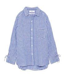 Mila Owen/フレンチリネンチェックシャツ/500722759