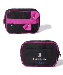 LANVIN en Bleu/リボンパールキャンパスポーチ/LB0004692