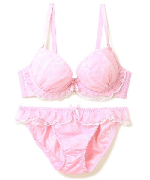 fran de lingerie(フランデランジェリー)/Twinkle Sheer トゥウィンクルシアー ブラ&ショーツセット B65-G75カップ/fb083p173c
