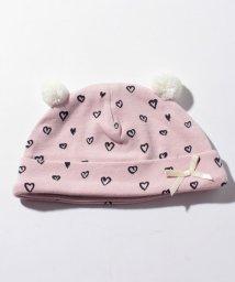 petit main/BABYハート柄ポンポン耳つき帽子/500706338