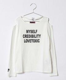 Lovetoxic/ハートチョーカー肩開きTシャツ/500714907