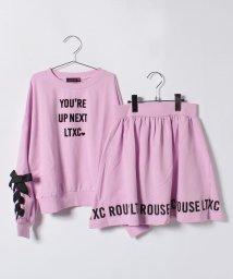 Lovetoxic/ロゴ入りミニ裏毛トレーナー×スカートセット/500714925
