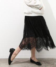 ViS/チュールレース切替スカート/500727431