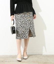 ROPE' mademoiselle/サイドボタンレオパードタイトスカート/500727476