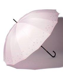 pink trick/BE SUNNY ビーサニー 長傘【16本骨】リトルハート  (晴雨兼用 UV 紫外線カット  耐風 軽量 撥水 16本)/500714712
