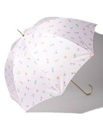 pink trick/BE SUNNY ビーサニー 長傘 【深張り】 ガーデン (晴雨兼用 UV 紫外線カット  耐風 軽量 撥水)/500714748