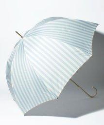 pink trick/BE SUNNY ビーサニー 長傘 【深張り】 ストライプ (晴雨兼用 UV 紫外線カット  耐風 軽量 撥水)/500714750