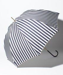 pink trick/BE SUNNY ビーサニー 長傘 【深張り】 ストライプ (晴雨兼用 UV 紫外線カット  耐風 軽量 撥水)/500714751