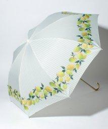 pink trick/BE SUNNY ビーサニー 2段折りたたみ傘 レモンストライプ (晴雨兼用 UV 紫外線カット  耐風 軽量 撥水)/500714699