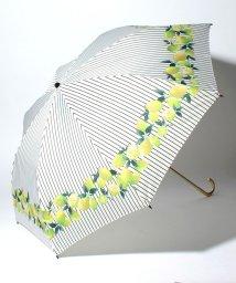 pink trick/BE SUNNY ビーサニー 2段折りたたみ傘 レモンストライプ (晴雨兼用 UV 紫外線カット  耐風 軽量 撥水)/500714701
