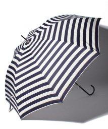 pink trick/BE SUNNY ビーサニー ノーマル長傘 ボーダー (晴雨兼用 UV 紫外線カット 耐風 軽量 撥水)/500714723
