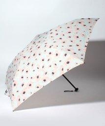 pink trick/BE SUNNY ビーサニー 4段折りたたみ傘 フラワー (晴雨兼用 UV 紫外線カット  耐風 軽量 撥水 ポーチ付)/500714757