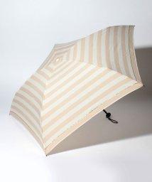 pink trick/BE SUNNY ビーサニー 4段折りたたみ傘 ボーダー (晴雨兼用 UV 紫外線カット  耐風 軽量 撥水 ポーチ付)/500714761