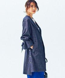 JIYU-KU /【STORY3月号掲載】デニムアウター ノーカラーコート/500730226