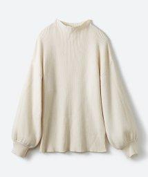 haco!/シルク混素材のぷっくり袖リブニット/500728470