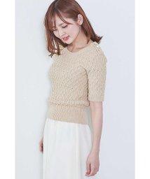 PROPORTION BODY DRESSING/◆ケーブルアイレット5分袖ニット/500732050