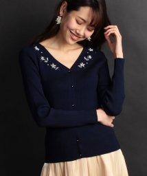 PROPORTION BODY DRESSING/ビーズ刺繍リブカーディガンニット/500732051