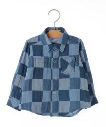 SHIPS KIDS/SHIPS KIDS:ダブルガーゼ リバーシブル シャツ(ブルー)(80~90cm)/500733077