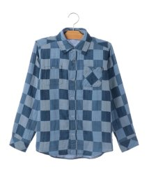 SHIPS KIDS/SHIPS KIDS:ダブルガーゼ リバーシブル シャツ(ブルー)(145~160cm)/500733079
