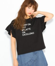 PINK-latte/★ニコラ掲載★フリル袖Tシャツ/500733869