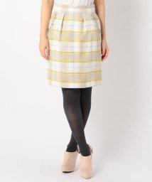 MISCH MASCH/チェック装飾付きタイトスカート/500670157