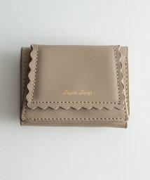 haco!/Legato Largo スカラップライン 三つ折りミニ財布/500733208