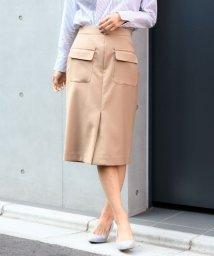TONAL/【JJ6月号掲載】【小泉里子さん着用】フラップポケットタイトスカート/500733534
