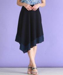VICKY/裾シアー異素材フレアスカート/500736345