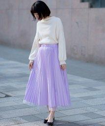 haco!/【mer8月号掲載】どんな日も華やか気分にしてくれる 二枚仕立てのチュールプリーツスカート/500735118
