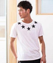 CavariA/CavariA【キャバリア】プリントクルーネック半袖Tシャツ/500738803
