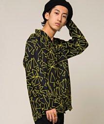 CavariA/CavariA【キャバリア】ジオメトリック柄長袖オープンカラーシャツ/500739115