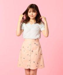 MIIA/スカラップ刺繍スカート/500739613