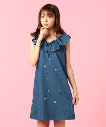 MIIA/フリル刺繍デニムワンピース/500739616
