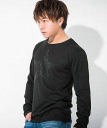 CavariA/CavariA【キャバリア】ビッグスターライトストーンクルーネック長袖Tシャツ/500739840