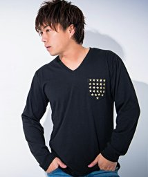 CavariA/CavariA【キャバリア】星スタッズ付きVネック長袖Tシャツ/500739843