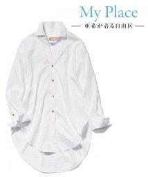 JIYU-KU /【マガジン掲載】TIMELESS イタリアCANGIOLI ロングシャツ(検索番/500741060