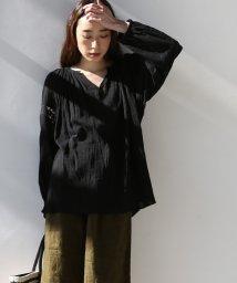 coen/【Market】スキッパー レースブラウス(WEB限定カラー:ブラック・イエロー)/500695958
