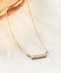 phoebe/【K10】ダイヤモンドバーネックレス/500725720