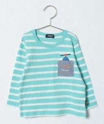 kladskap/ロボットポケットボーダーTシャツ/500730168
