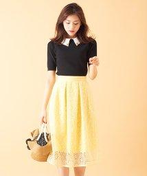 31 Sons de mode/【美人百花5月号掲載】オーガンジー刺繍スカート/500730249