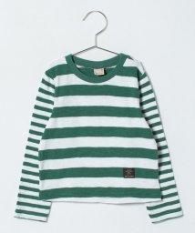 petit main/クレイジーボーダーTシャツ/500730358