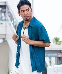 CavariA/CavariA【キャバリア】レーヨンブロードオープンカラー半袖シャツ/500740487