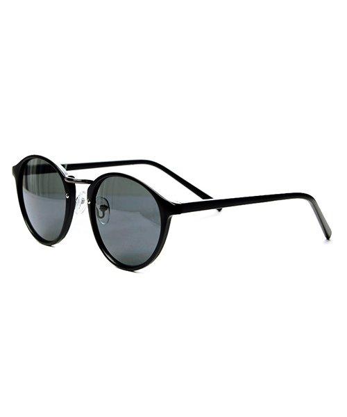 シルバーバレット CavariAクラシックボストン型伊達メガネ メンズ ブラック系3 FREE 【SILVER BULLET】