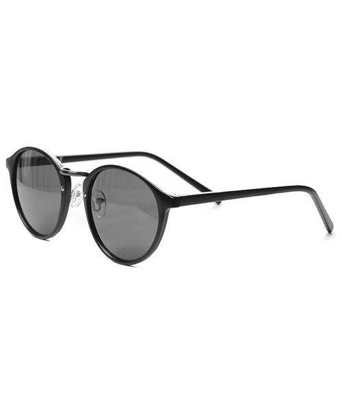 シルバーバレット CavariAクラシックボストン型伊達メガネ メンズ ブラック系5 FREE 【SILVER BULLET】