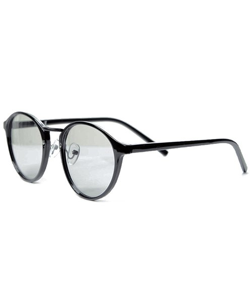 シルバーバレット CavariAクラシックボストン型伊達メガネ メンズ ブラック系2 FREE 【SILVER BULLET】